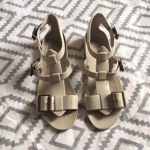 Burberry taupe sandals